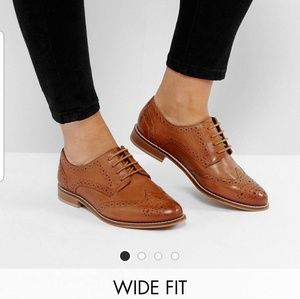 ASOS MOJITO Leather Brogues - Wide Fit